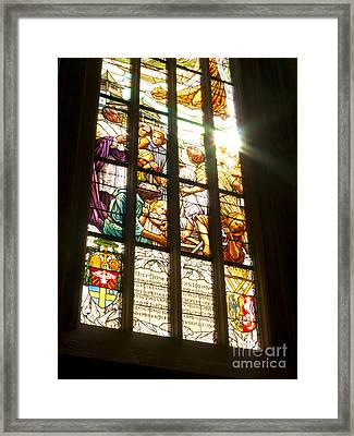 Stained Glass Window Framed Print by Michal Boubin