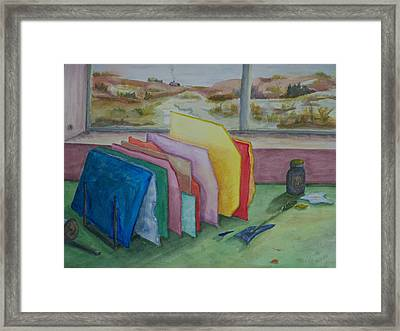 Stained Glass Workshop Framed Print