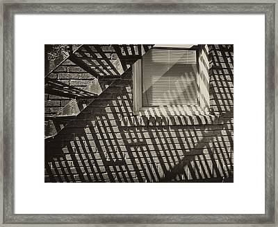 Stair Shadow Framed Print