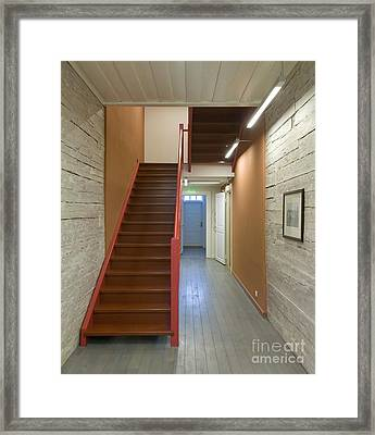Staircase In Old Building Framed Print