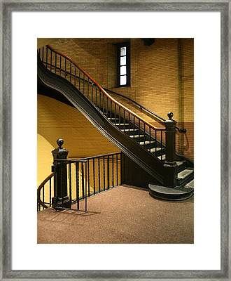 Staircase In The Boston Armory Framed Print