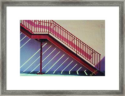 Staircase On A Wall Framed Print