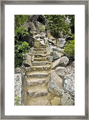 Staircase To Eagle Falls Lake Tahoe Framed Print by LeeAnn McLaneGoetz McLaneGoetzStudioLLCcom