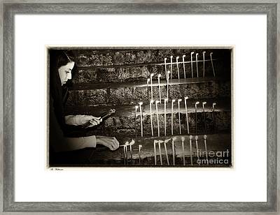 Staircase To Faith Framed Print by Arik Baltinester