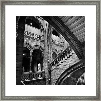 Stairs And Arches Framed Print by Martin Williams