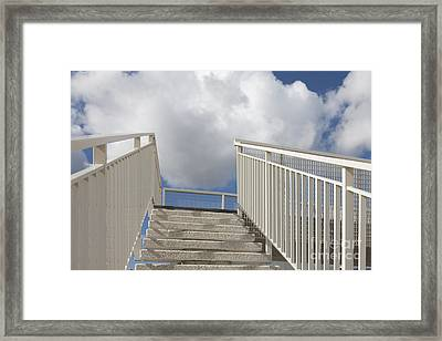 Stairs And Clouds Framed Print by Jaak Nilson