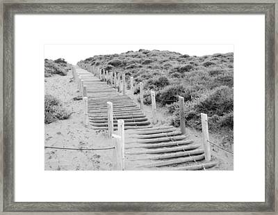 Stairs At Baker Beach Framed Print