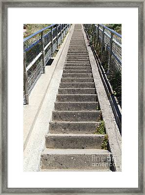 Stairs Coming Down To The Point Reyes Lighthouse In California 7d16018 Framed Print by Wingsdomain Art and Photography
