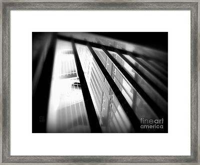 Stairway Black And White Framed Print