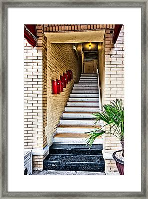 Stairway Framed Print by Christopher Holmes