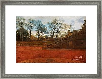 Stairway In Central Park Framed Print