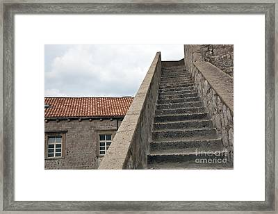 Stairway In Dubrovnik Framed Print by Madeline Ellis