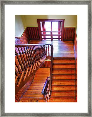 Stairway In Old Naval Hospital Framed Print by Steven Ainsworth