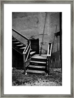 Stairway Left Framed Print by Fred Lassmann