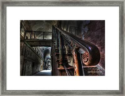 Stairway Of Terror - Eastern State Penitentiary Framed Print by Lee Dos Santos