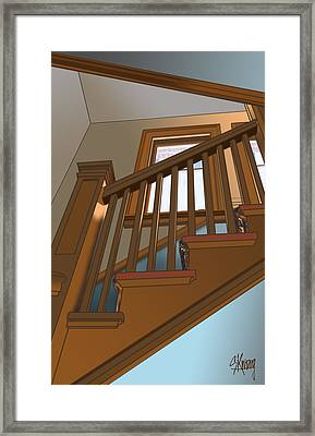Stairway To 2nd Floor Framed Print