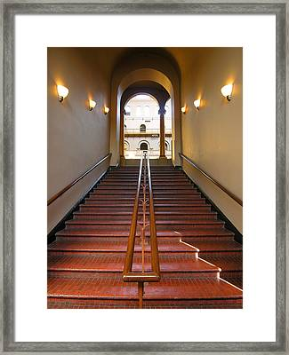 Stairway To Balcony Framed Print by Steven Ainsworth