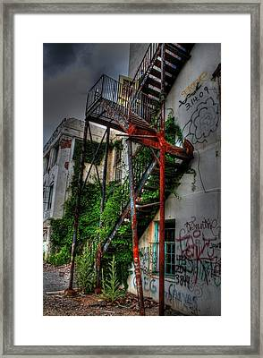 Stairway To Insanity Framed Print by Heather  Boyd
