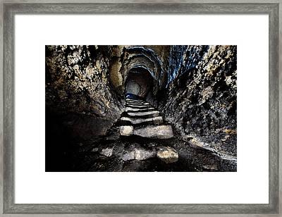 Stairway To Light Framed Print by Denis Taraskin