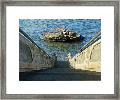 Stairway To Magic Island Framed Print by David Rearwin