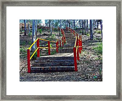 Stairway To Nowhere Framed Print by Peter P G