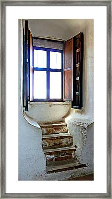 Stairway To The Outside Framed Print