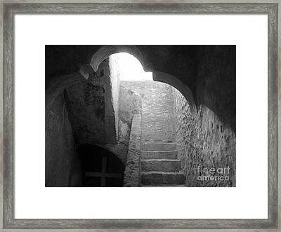Stairway To The Sky Framed Print by Keith Kapple