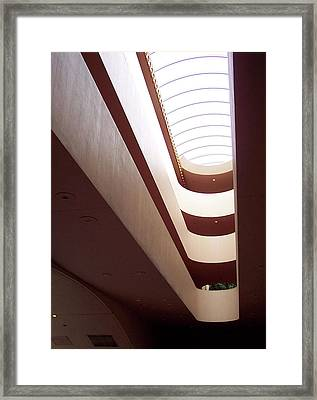 Stairwell At The Marin Civic Framed Print
