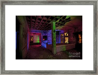 Stairwell Of The Stamford Hotel Framed Print by Keith Kapple