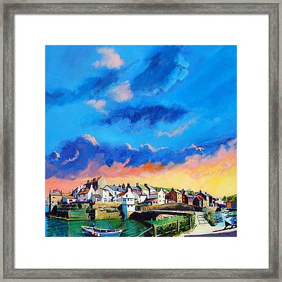 Staithes At Sundown Framed Print by Neil McBride