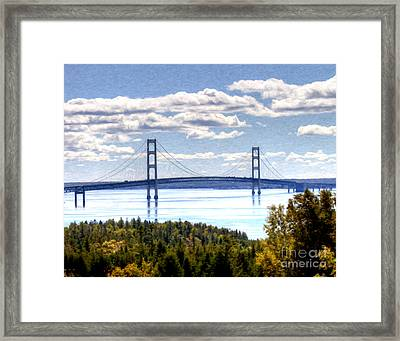 Staits Of Mackinac Framed Print