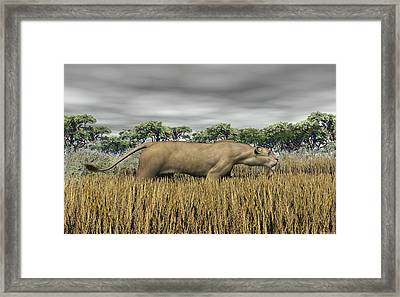 Framed Print featuring the digital art Stalking Prey by Walter Colvin