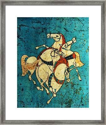 Stallions Framed Print by Alexandra  Sanders