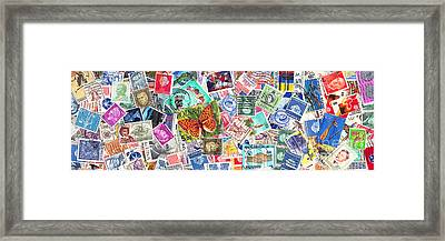 Stamp Collection . 3 To 1 Proportion Framed Print by Wingsdomain Art and Photography