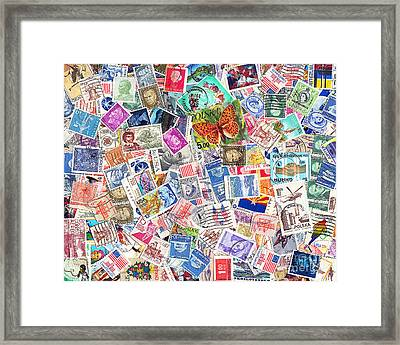 Stamp Collection . 8 To 10 Proportion Framed Print by Wingsdomain Art and Photography
