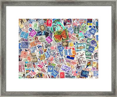 Stamp Collection . 9 To 12 Proportion Framed Print by Wingsdomain Art and Photography