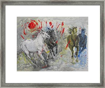 Stampede Sunset Framed Print