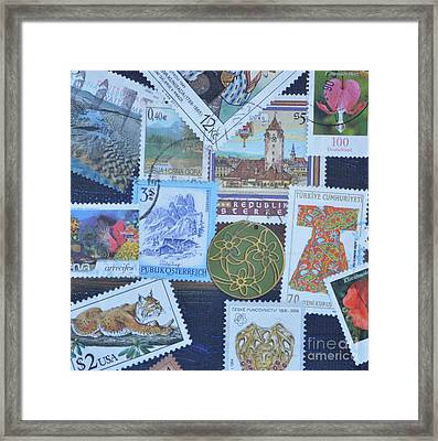 Stamps Framed Print