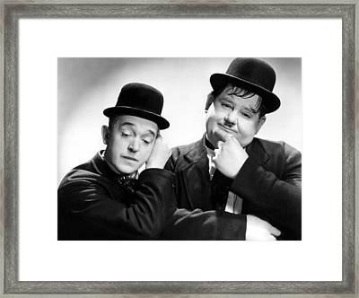 Stan Laurel, Oliver Hardy Laurel And Framed Print by Everett
