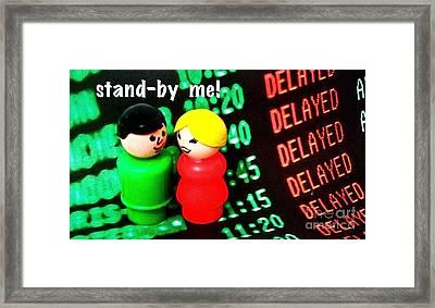 Stand By Me Framed Print by Ricky Sencion