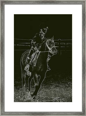 Stand Out Glowing Duo Framed Print by Karol Livote