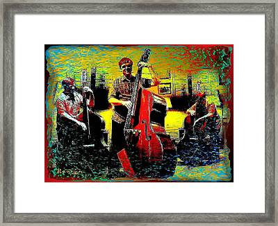 Stand Up Bassman Framed Print by Sadie Reneau