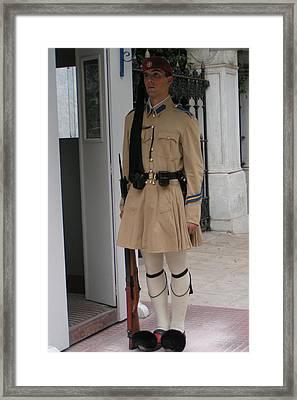 Standin Guard Framed Print