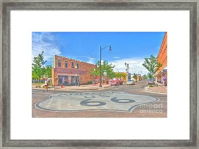 Standin On The Corner Route 66 Framed Print by John Kelly