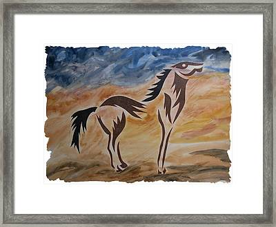 Standing Firm Framed Print