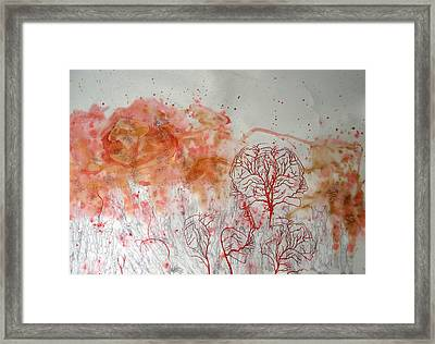 Standing In A Crowd Framed Print