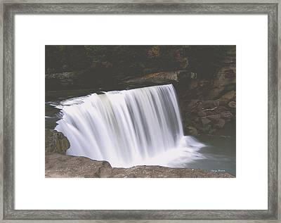 Framed Print featuring the photograph Standing In Motion  Cumberland Falls 01 by George Bostian