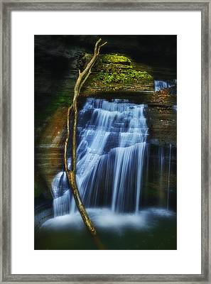 Standing In Motion Framed Print by Evelina Kremsdorf