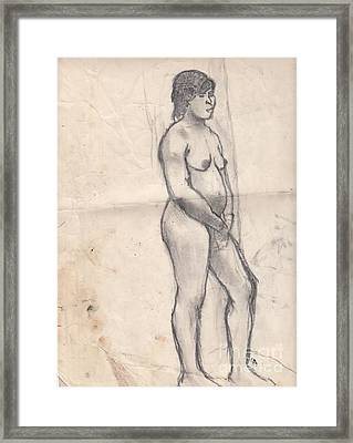 Standing Nude Framed Print by Brian Francis Smith