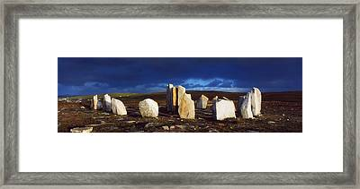 Standing Stones, Blacksod Point, Co Framed Print by The Irish Image Collection